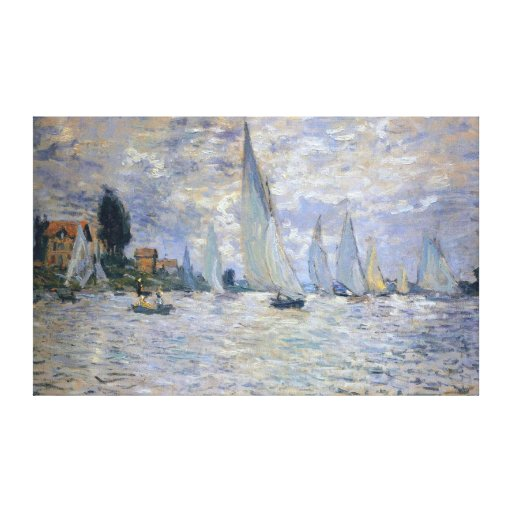 The Boats Regatta at Argenteuil, by Claude Monet Canvas Print