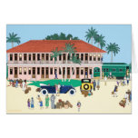 The Boca Grande Railroad Station 1928 Greeting Cards