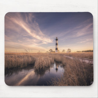 The Bodie Island Lighthouse  At Sunset Mouse Pad