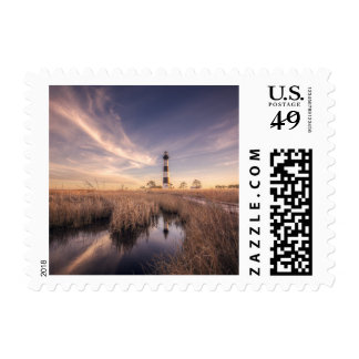 The Bodie Island Lighthouse  At Sunset Postage