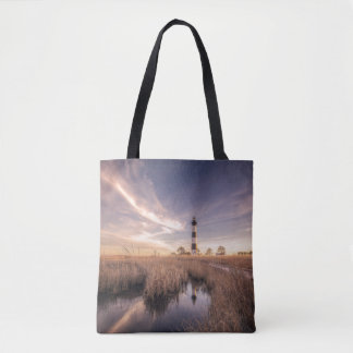 The Bodie Island Lighthouse  At Sunset Tote Bag