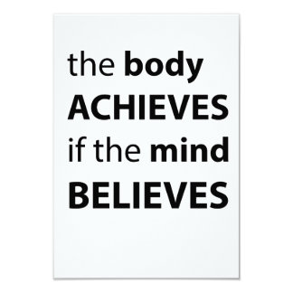 The body achieves if the mind believes card