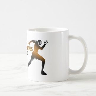 The BODY Achieves what the MIND Believes Gold Classic White Coffee Mug