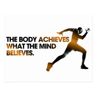 The BODY Achieves what the MIND Believes Gold Postcard