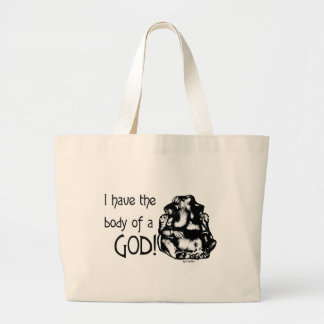 The Body of a God: Large Tote Bag