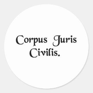 The body of civil law sticker