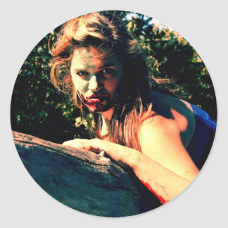 The Bog Hag by April A Taylor Round Sticker