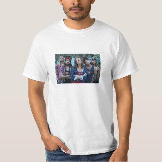 The Bogan Bingo crew on a T-shirt