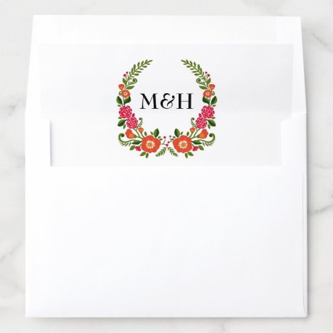 The Bohemian Summer Wedding Collection Envelope Liner