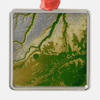 The Bolivian Amazon Square Metal Christmas Ornament