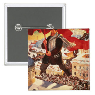 The Bolshevik, 1920 2 Inch Square Button
