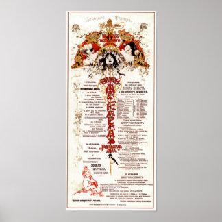 The Bolshoi Theatre Big masquerade 1901 Poster