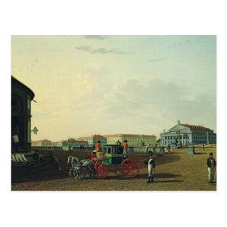 The Bolshoi Theatre in St. Petersburg, 1802 Postcard