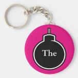 The BOMB! Basic Round Button Keychain