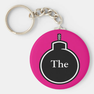 The BOMB! Basic Round Button Keychain