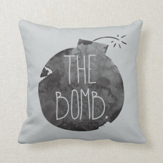 The bomb. throw pillow