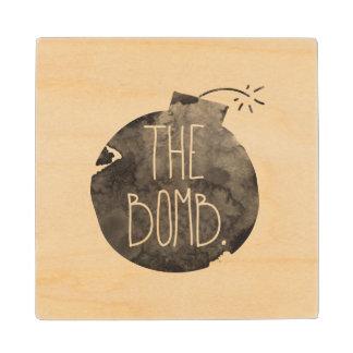 The Bomb. Wood Coaster