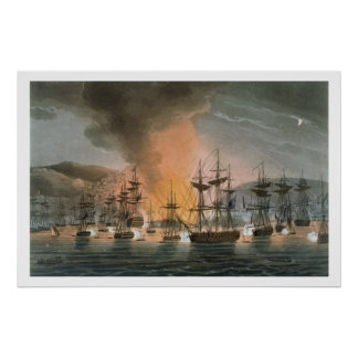 The Bombardment of Algiers, 27th August 1816, from Posters