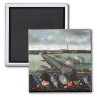 The Bombardment of Dunkirk 2 Inch Square Magnet