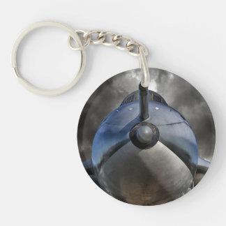 The Bomber Single-Sided Round Acrylic Keychain