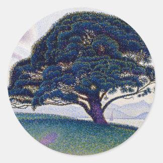 The Bonaventure Pine by Paul Signac Classic Round Sticker