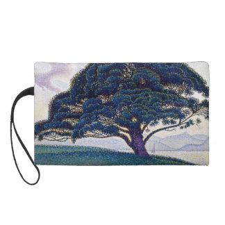 The Bonaventure Pine by Paul Signac Wristlet Purse