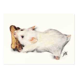 The Bone Thief (Hamster) ACEO Art Trading Cards Large Business Card