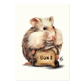 The Bone Thief II (Hamster) ACEO Art Trading Cards Large Business Card