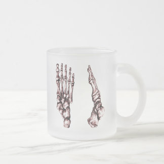 The bones of the human foot frosted glass coffee mug