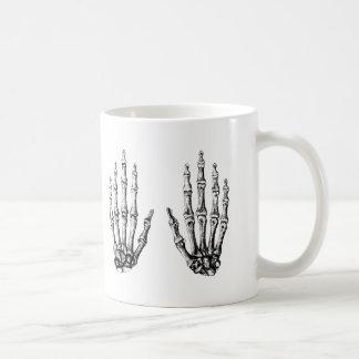 The bones of the human hand coffee mug