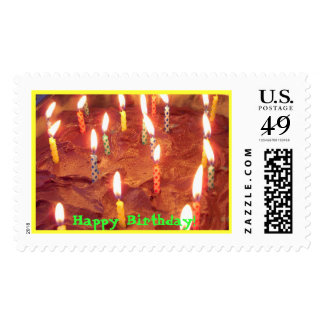 The Bonfire, Happy Birthday! Postage Stamp