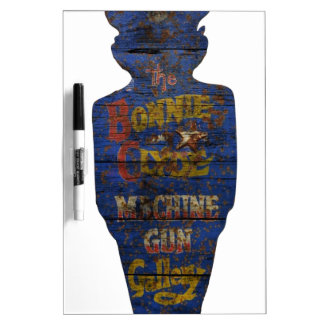 The Bonnie and Clyde Canival Shooting Target Dry-Erase Board