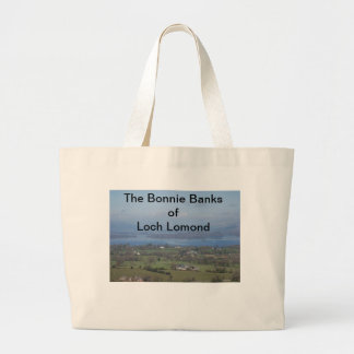 The Bonnie Banks of Loch lomond Large Tote Bag