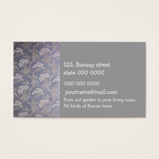 The Bonsai Store business card