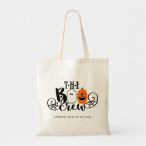 The Boo Crew Halloween Ghost Pumpkin Personalized Tote Bag