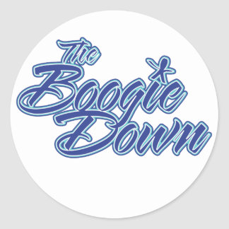 The Boogie Down Classic Round Sticker