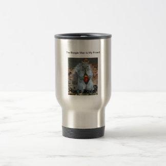 The Boogie Man Is My Friend travel coffee mug