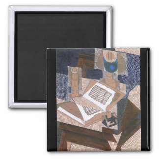 The book by Juan Gris 2 Inch Square Magnet