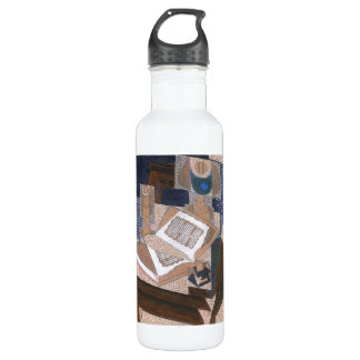 The book by Juan Gris Stainless Steel Water Bottle