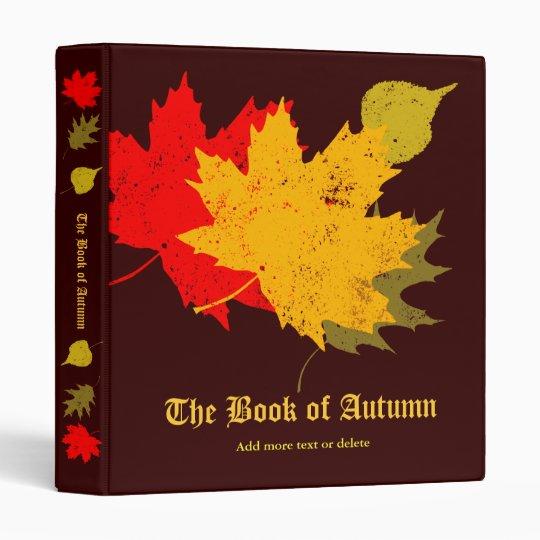 The Book of Autumn Binder