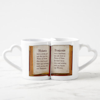 The Book of our Love Couples' Coffee Mug Set