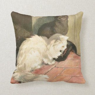 The Book of the Cat: Snowball and Ebony Throw Pillow