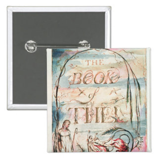 The Book of Thel; Title Page, 1789 Pinback Button