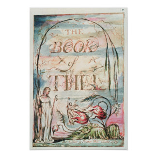 The Book of Thel; Title Page, 1789 Poster