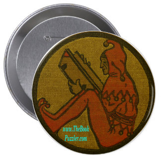 The Book Puzzler Pinback Button