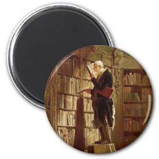 The Bookworm 2 Inch Round Magnet