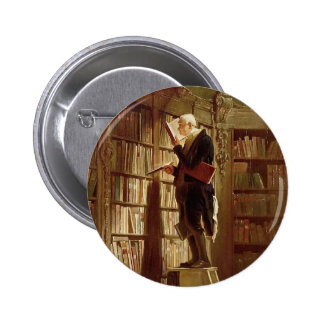 The Bookworm Pinback Button
