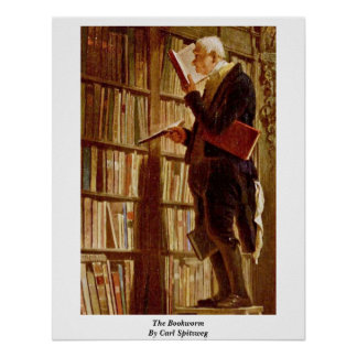 The Bookworm By Carl Spitzweg Posters