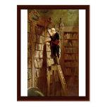 The Bookworm,  By Spitzweg, Carl Post Card