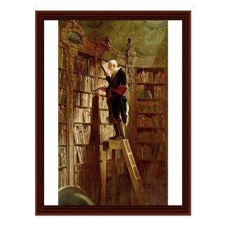 The Bookworm,  By Spitzweg, Carl Postcard